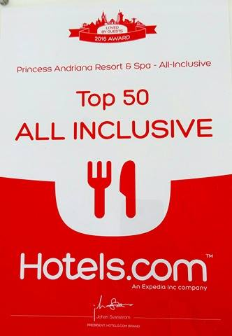 Top 50 All Inclusive Hotels Award