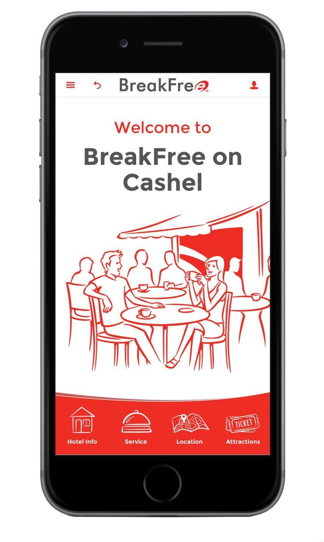 Breakfree on Cashel app homepage