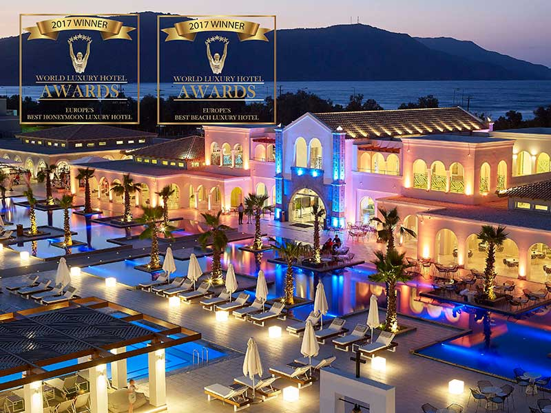 Βραβείο «Best Luxury Beach Hotel in Europe» και «Best Luxury Honeymoon Hotel in Europe» για το Anemos Luxury Grand Resort!