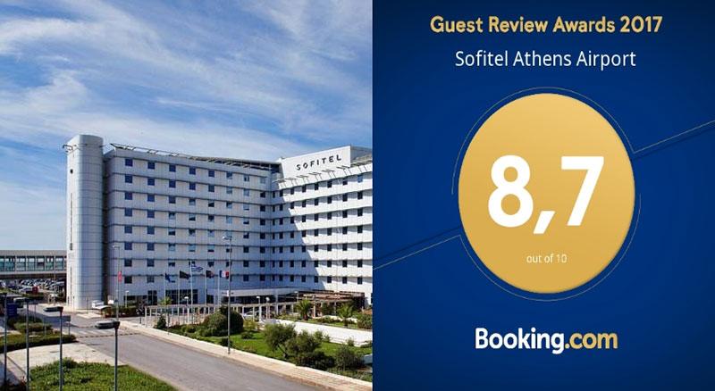 Το Sofitel Athens Airport βραβεύεται για ακόμα μια χρονιά από το Booking.com
