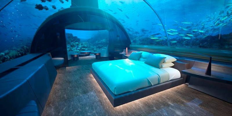 Ύπνος κάτω από την επιφάνεια της θάλασσας! Η υποθαλάσσια βίλα υπάρχει!