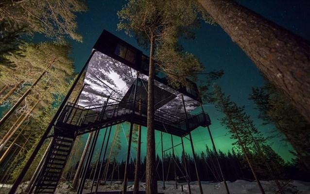 Δεντρόσπιτο- Ξενοδοχείο στη Σουηδία!