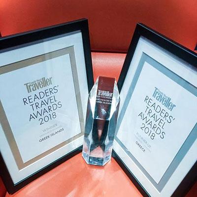 Θριάμβευσε η Ελλάδα στα διεθνή ταξιδιωτικά βραβεία του Condé Nast Traveller 2018 στο Λονδίνο