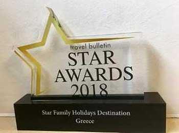 Η Ελλάδα «Καλύτερος Προορισμός Οικογενειακών Διακοπών» στα βρετανικά βραβεία «Travel Bulletin Star Awards 2018»