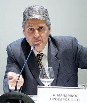 Ο Πρόεδρος της ΕΞΘ Α. Μανδρίνος έθεσε στον Πρωθυπουργό το θέμα του Οργανισμού Τουρισμού Θεσσαλονίκης και της ασφάλειας