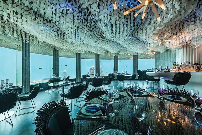 Γαστρονομία και design κάτω από την επιφάνεια της θάλασσας!