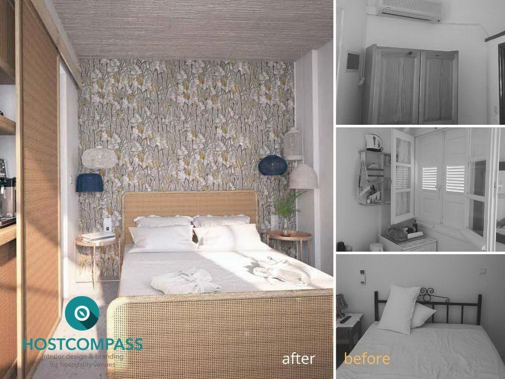 Ολική Μεταμόρφωση ενός τυπικού δωματίου Κυκλαδίτικου rooms-to-let στην Πάρο