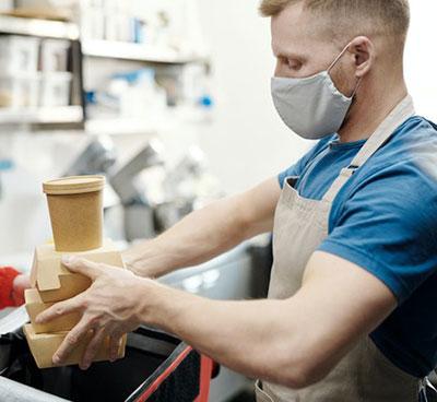 Χρήση μάσκας σε καταστήματα Καφεστίασης