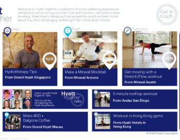 Η Hyatt παρουσιάζει την ψηφιακή πλατφόρμα, Hyatt Together, για να εμπνεύσει την ευεξία στο σπίτι ή στο ταξίδι