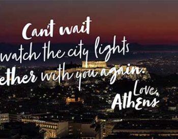 «Μέχρι να συναντηθούμε ξανά...»: Η νέα ψηφιακή καμπάνια για την Αθήνα εν μέσω lockdown